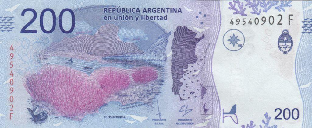 Argentine 200 Pesos - Baleine - 2018 Série F
