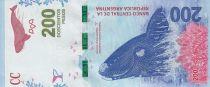 Argentine 200 Pesos Baleine - Série B 2017