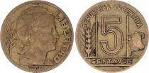 Argentine 5 Centavos 1942-1950 - TTB