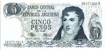Argentine 5 Pesos, Général Belgrano - 1971