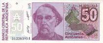 Argentine 50 Australes Bartolomé Mitre - Liberté