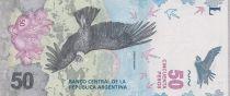 Argentine 50 Pesos Condor -  Montagne - 2018 (format vertical)