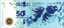 Argentine 50 Pesos Iles Maldives - Cavalier - 2015