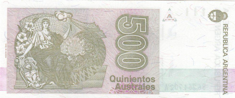 Argentine 500 Australes N. Avellaneda - Liberté - 1990