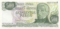 Argentine 500 Pesos J. San Martin - Mendoza - 1982