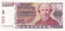 Argentine 5000 Pesos B. Alberdi - Constitution - 1984-1985 - Neuf - P.318