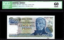 Argentine 5000 Pesos J. San Martin - Mar del Plata - 1977 - ICG AU/UNC60