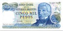 Argentine 5000 Pesos J. San Martin - Mar del Plata - 1977