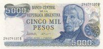 Argentine 5000 Pesos J. San Martin - Mar del Plata - 1983
