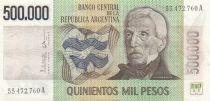 Argentine 500000 Pesos J. San Martin - Fondation de Buenos Aires - 1980