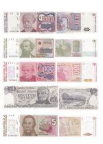 Argentine Série de 5 billets d\'Argentine - (1978 - 1990)