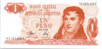 Argentinien 1 Peso General Manuel Belgrano - Bariloche-Llao-Llao - Serial C