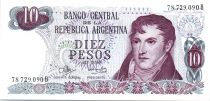 Argentinien 10 Pesos Gral. Manuel  Belgrano - Serial B - 1973/1976