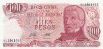 Argentinien 100 Pesos, J. San Martin - Costline at Ushuaia J. San Martin - Costline at Ushuaia - 1978