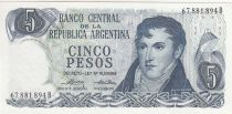 Argentinien 1000 Pesos ND1976 - J. San Martin - Plaza de Mayo