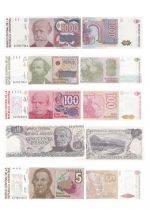 Argentinien Set of 5 banknotes from Argentina - (1978 - 1990)
