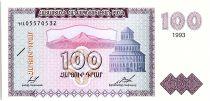 Arménie 100 Dram, Mont Ararat - Eglise - 1993  P36 a