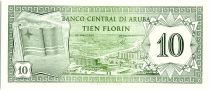Aruba 10 Florin, Flag - Hotels - 1986