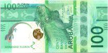 Aruba 100 Florin  Iguane  - 2019 - UNC - Strip 3D EFFCT