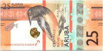 Aruba 25 Florin Oiseau - 2019 - Neuf - Strip effet 3D