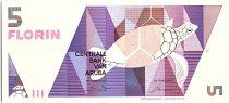 Aruba 5 Florin - Turtle- Geometric forms - 1990