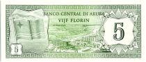 Aruba 5 Florin, Drapeau - Hotels - 1986