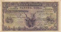 Äthiopien 5 Thalers, Great Kudu - 1932 - P. 7 - VF