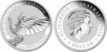 Australia 1 Dollar Elisabeth II - Bird of Paradise - 1 Oz Silver 2018