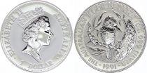 Australie 1 Dollar Elisabeth II - Kookaburra Once Argent 1991