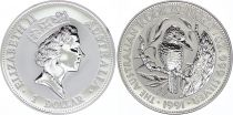 Australia 1 Dollar Elizabeth II - Kookaburra Silver Oz 1991