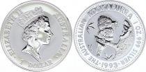 Australie 1 Dollar Elisabeth II - Kookaburra Once Argent 1993