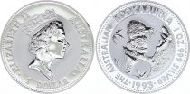 Australia 1 Dollar Elizabeth II - Kookaburra Silver Oz 1993