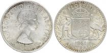 Australia 1 Florin 1961 - Elizabeth II - Silver