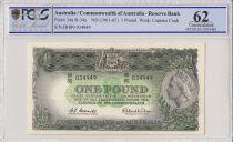 Australia 1 Pound Elizabeth II - C. Sturt, H. Hume - 1961/65 - PCGS 62