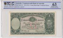 Australia 1 Pound George VI - Workers  - 1952 - PCGS 63
