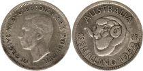 Australie 1 Shilling 1952 -George VI - Argent