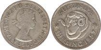 Australie 1 Shilling 1957 - Elizabeth II - Argent