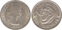 Australia 1 Shilling 1958 - Elizabeth II - Silver