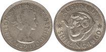 Australia 1 Shilling 1960 - Elizabeth II - Silver