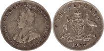 Australia 3 Pence 1927 - George V - Silver
