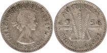 Australia 3 Pence 1956 - Elisabeth II - Silver