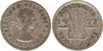 Australia 3 Pence 1957 - Elisabeth II- Argent