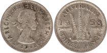 Australia 3 Pence 1958 - Elisabeth II- Argent