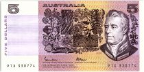 Australia 5 Dollars - Sir Joshef Bank, Caroline Chisholm - 1985