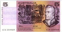 Australia 5 Dollars - Sir Joshef Bank, Caroline Chisholm - 1991