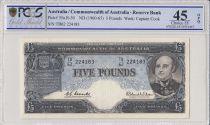 Australia 5 Pounds Sir John Franklin - 1960 -PCGS EF 45