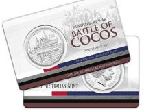 Australia 50 Cents Australia at war - Battle of Cocos 2014
