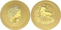 Australia 50 Dollars Elizabeth II - Year of Dog Gold 1/2 Oz 2018