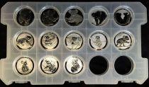 Australie Série 13 monnaies - Koala Once Argent 2007 à 2019