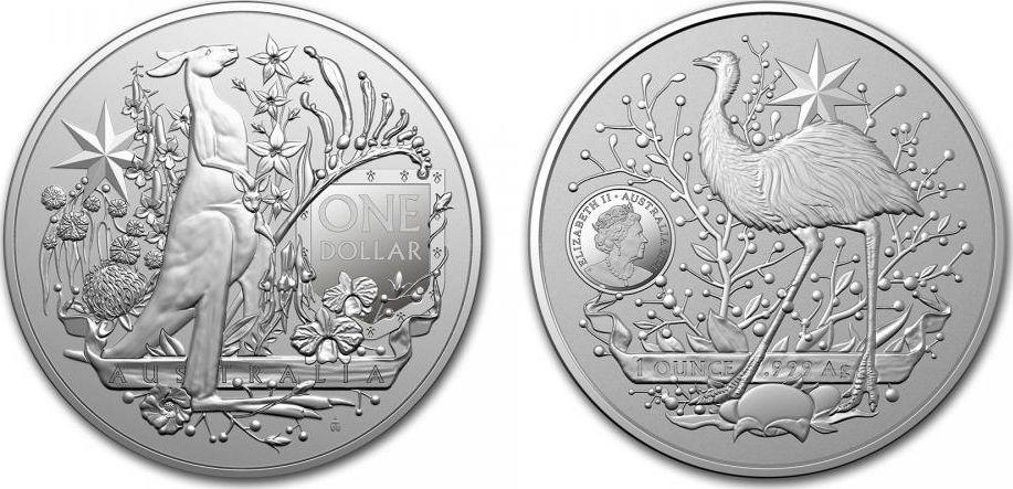 Australie 1 Dollar Coat of Arms - 1 Once Argent 2021